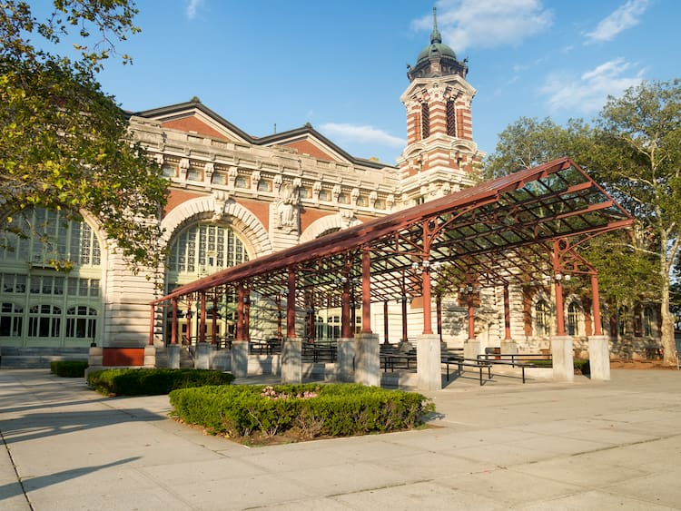 Entrance to the Ellis Island Museum of Immigration in New York