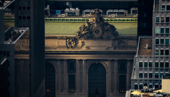 Grand Central Terminal in New York City at sunset