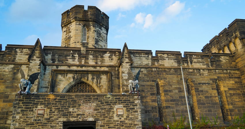 exterior of the eastern state penitentiary