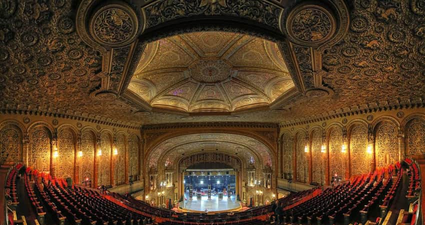 The interior of the United Palace Theatre.