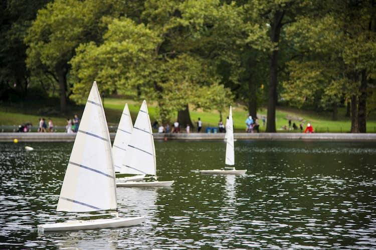 Sailboats on Conservatory Pond