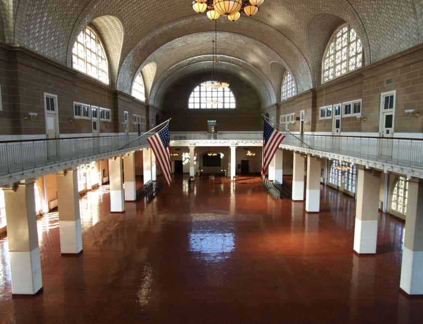 The Great Hall in the Ellis Island National Museum of Immigration