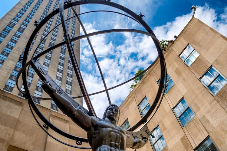 Atlas sculpture in front of Rockefeller Center