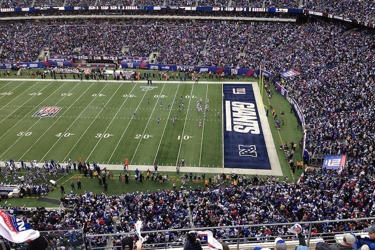 MetLife Stadium field during Giants game