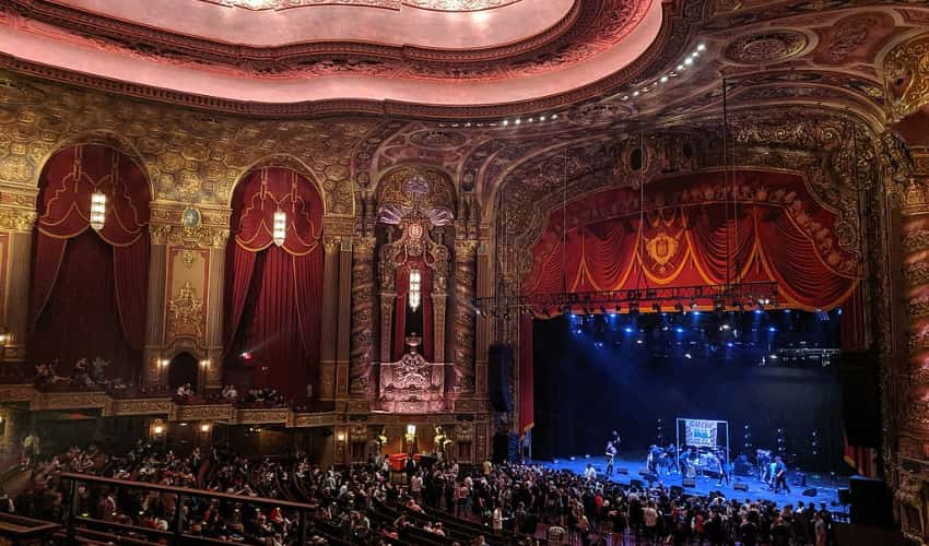Inside of the Kings Theatre in Brooklyn, New York