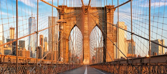 the brooklyn bridge during the day