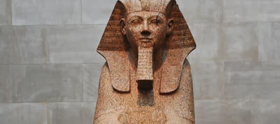 Egyptian sphinx in The Metropolitan Museum of Art, New York.